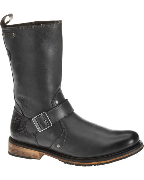 "Harley-Davidson Men's Brendan 10"" Leather Motorcycle Boots, Black, hi-res"
