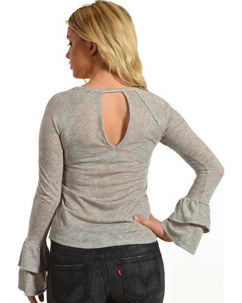 Jolt Women's Grey Double Sleeve Top , Grey, hi-res