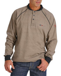 Cinch Men's WRX Flame Resistant Long Sleeve Thermal Henley, , hi-res