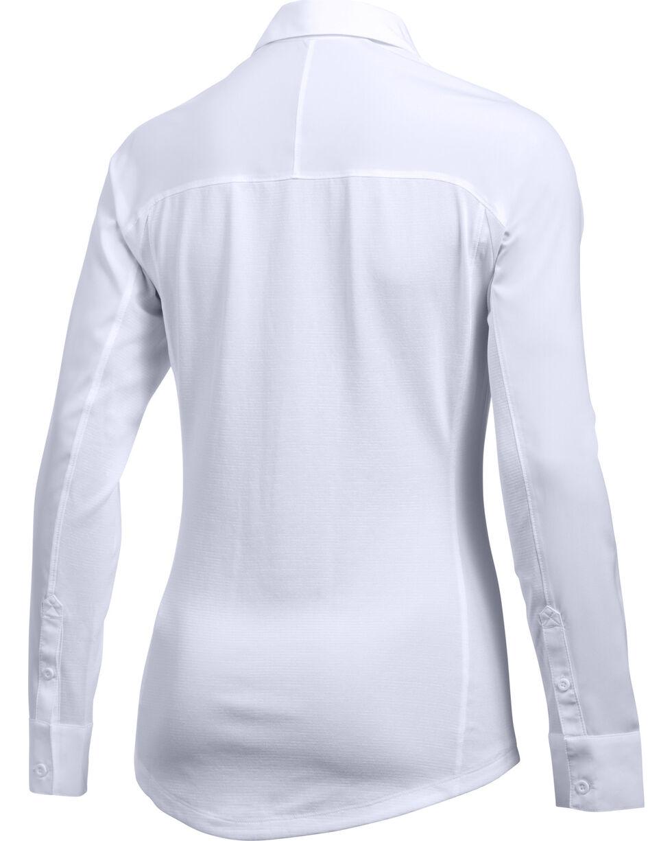 Under Armour Women's White Tide Chaser Hybrid Shirt, White, hi-res