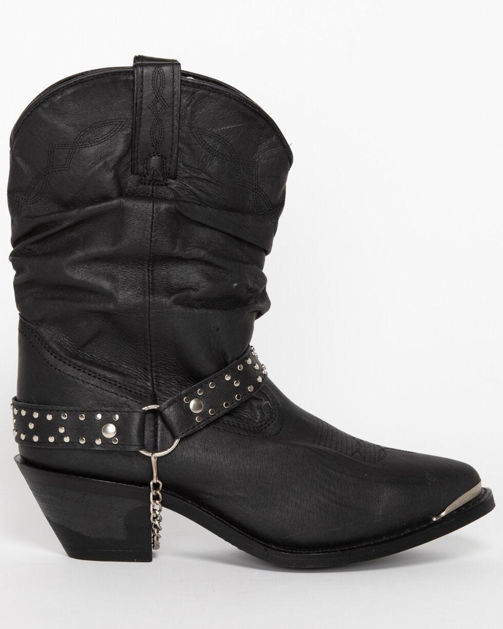 Shyanne® Women's Slouch Harness Fashion Boots, Black, hi-res
