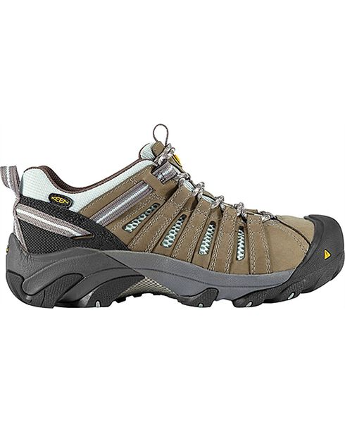 Keen Women's Flint Low Waterproof Steel Toe Work Shoes, Olive, hi-res