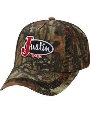 Justin Boots Men's Camo Trucker Ball Cap , Camouflage, hi-res