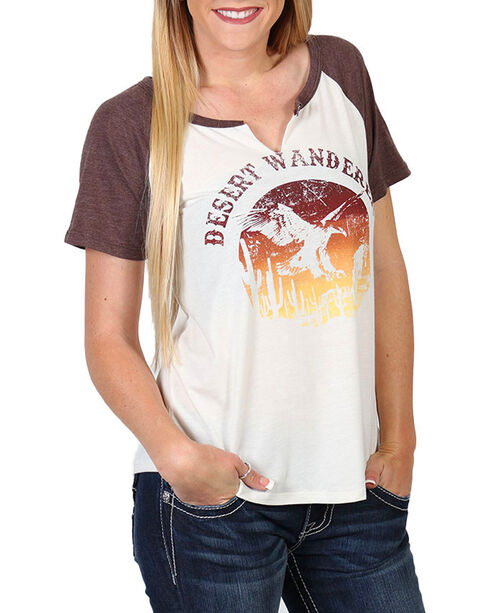 White Crow Women's Desert Wanderer Baseball Tee , Multi, hi-res