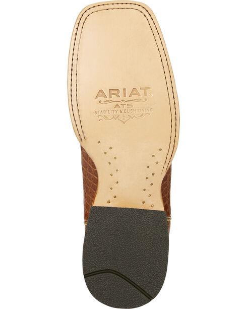 Ariat Men's Silverado Brown Caiman Cowboy Boots - Square Toe, Brown, hi-res