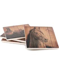 BB Ranch Set of 4 Western Ceramic Coasters, , hi-res