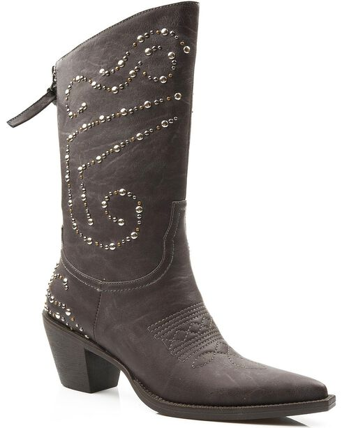 Roper Women's Studded Fashion Western Boots, Brown, hi-res