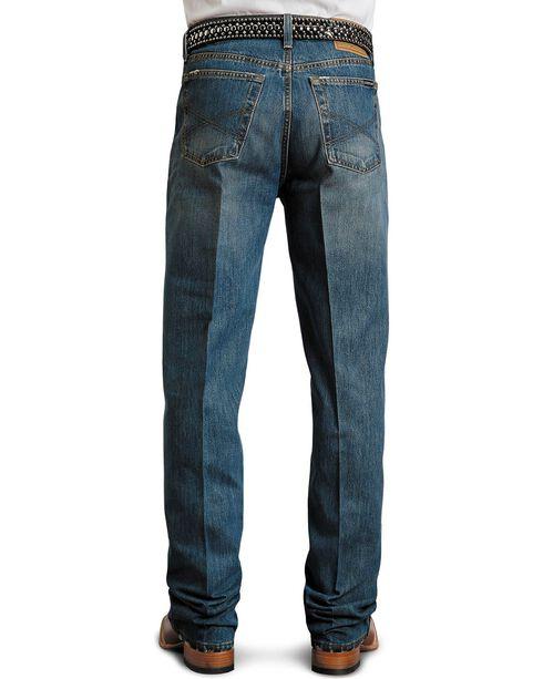 Stetson Men's Premium Standard Fit Boot Cut Jeans, Med Stone, hi-res