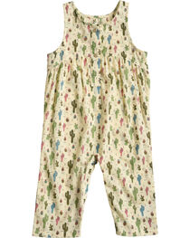 Wrangler Infant Girls' Cactus Print Sleeveless Romper , , hi-res