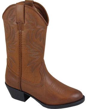 Smoky Mountain Boys' Trenton Western Boots - Round Toe, Brown, hi-res