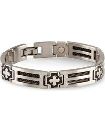Sabona Cross Cable Magnetic Bracelet - Size XL, , hi-res