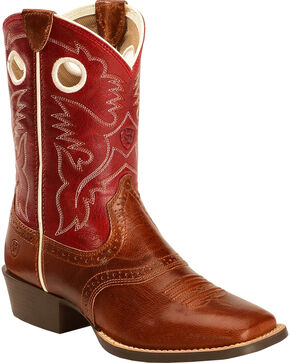 Ariat Kids' Rough Stock Western Boots, Tan, hi-res