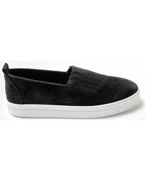 Minnetonka Women's Gabi Slip On Shoes - Round Toe, Black, hi-res