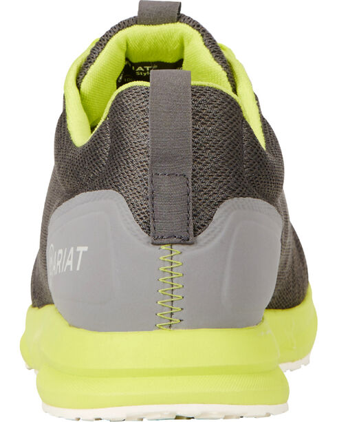 Ariat Men's Fuse Neon Shoes, Charcoal Grey, hi-res