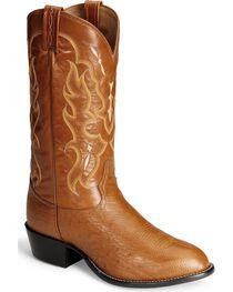 Tony Lama Men's Smooth Ostrich Exotic Boots, , hi-res