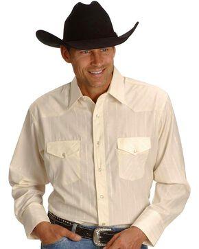 Wrangler Men's Western Silver Edition Shirts, Cream, hi-res