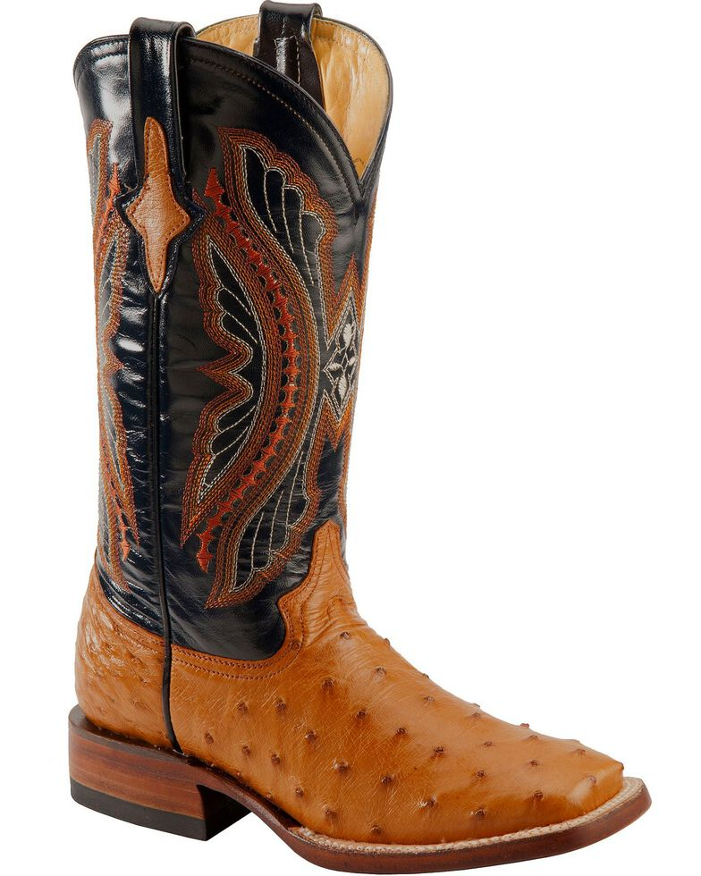 Ferrini Women S Full Quill Ostrich Square Toe Exotic Boots