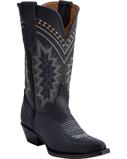 Ferrini Women's Black Navajo Western Boots - Snip Toe , Black, hi-res
