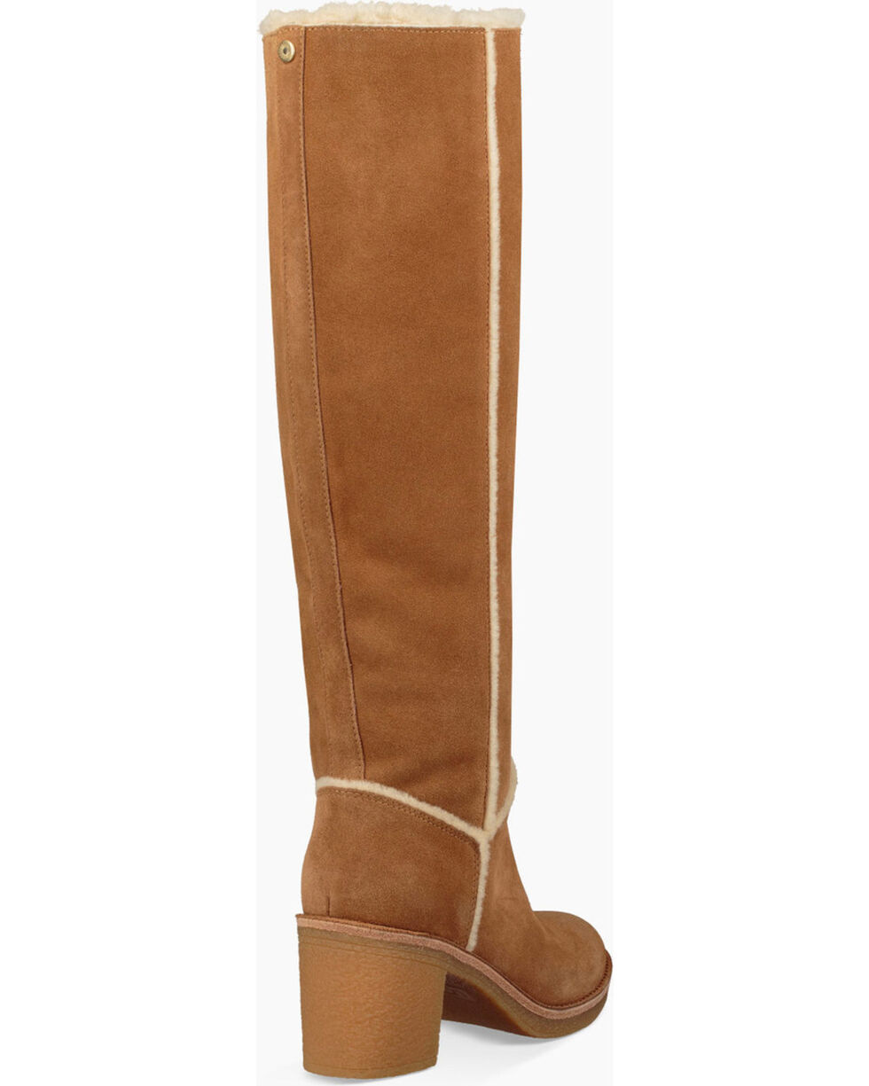 UGG Women's Tall Heeled Boots, Chestnut, hi-res