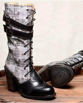 Oak Tree Farm Arabella Black Boots - Round Toe, Black, hi-res