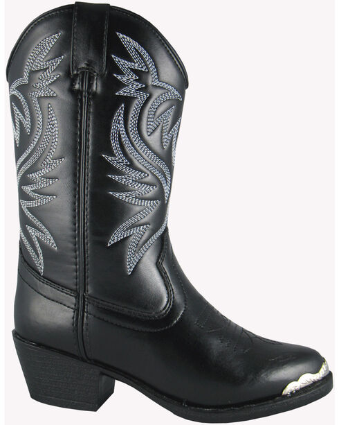 Smoky Mountain Boys' Mesquite Western Boots - Round Toe, Black, hi-res