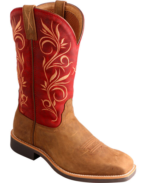 Twisted X Women's Top Hand Filigree Western Boots, Distressed, hi-res