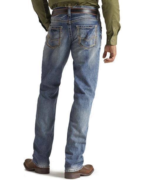 Ariat Men's M5 Low Rise Straight Leg Jeans, Med Stone, hi-res