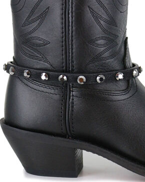 Shyanne® Women's Crystal Boot Bracelet, Black, hi-res
