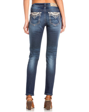 Miss Me Women's Diamond Embellished Skinny Jeans , Indigo, hi-res