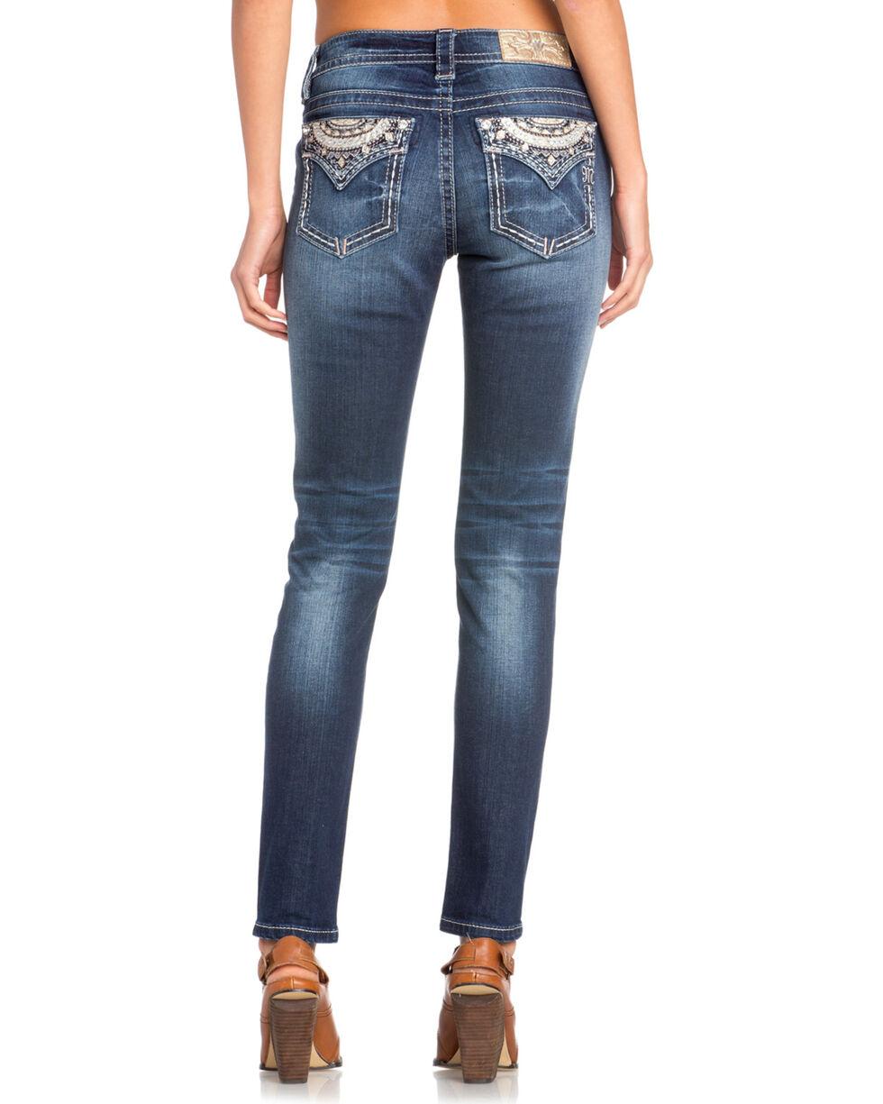 Miss Me Women's Diamond Embellished Skinny Jeans , Indigo, hi-res