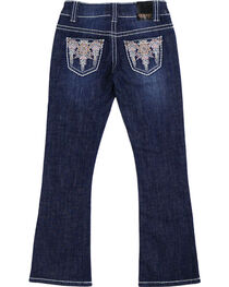 Shyanne® Girls' Aztec Embroidered Boot Cut Jeans, , hi-res