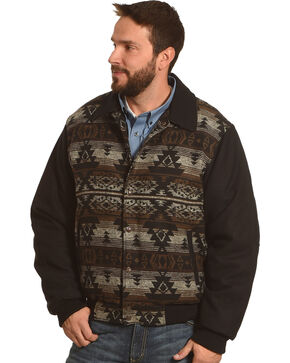 Cripple Creek Men's Brown Navajo Blanket Jacket , Brown, hi-res