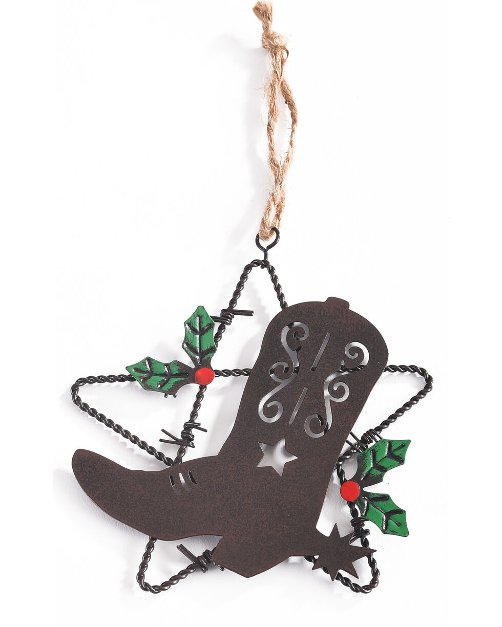 BB Ranch Metal Boot and Star Ornament, No Color, hi-res