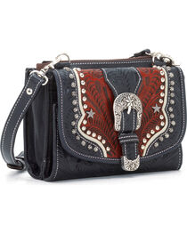 American West Women's Texas Two-Step Wallet Clutch, , hi-res