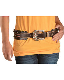 Angel Ranch Women's Stud & Stone Western Belt, , hi-res
