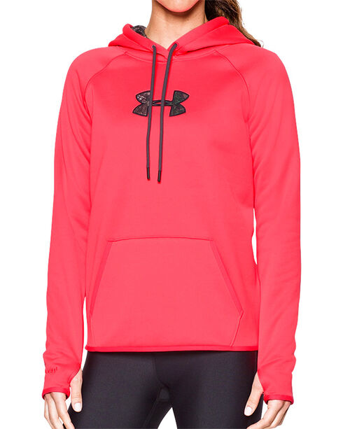 Under Armour Women's Cold Gear Camo Hoodie, Pink, hi-res