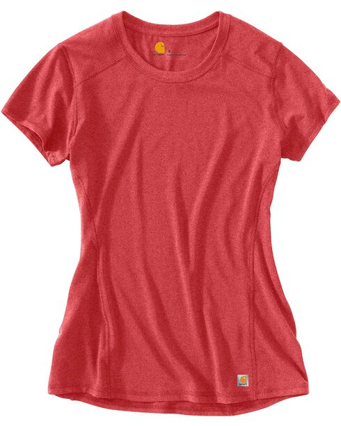 Carhartt Women's Force Short Sleeve Shirt, Coral, hi-res