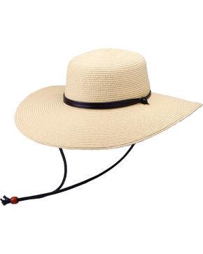 """Peter Grimm Coralia 4 1/2"""" Natural Sun Hat, Natural, hi-res"""