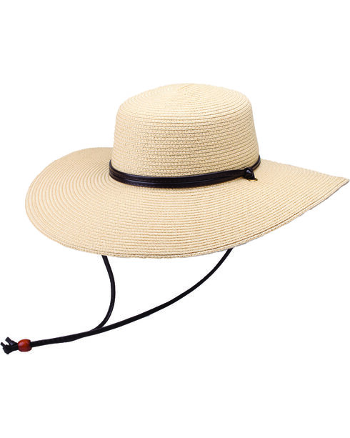 "Peter Grimm Coralia 4 1/2"" Natural Sun Hat, Natural, hi-res"