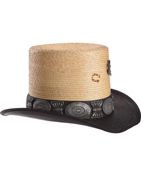 Charlie 1 Horse Women's Black Cochella Valley Straw Top Hat , Black, hi-res
