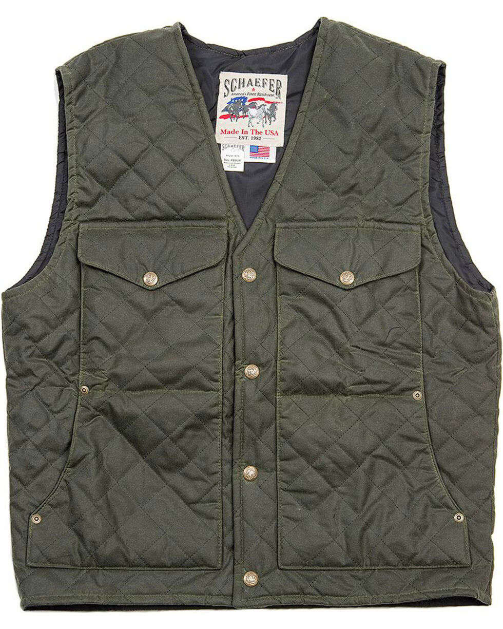 Schaefer Outfitter Men's Loden Blacktail Quilted Rangewas Vest , Olive, hi-res