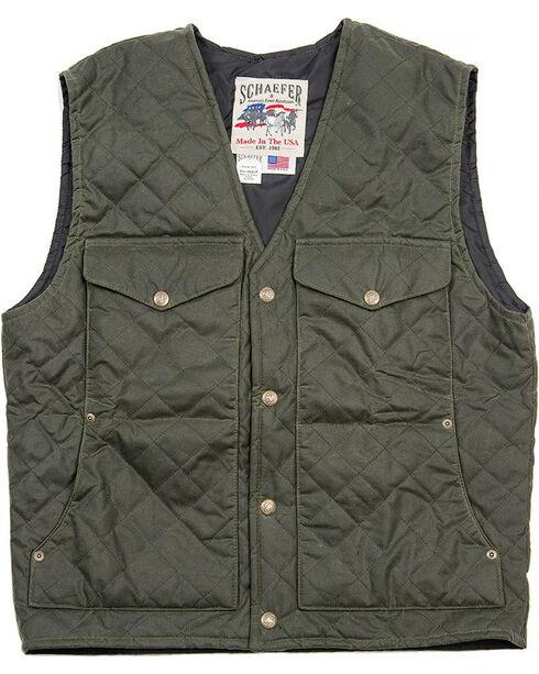 Schaefer Outfitter Men's Loden Blacktail Quilted Rangewas Vest - Big 2X , Olive, hi-res