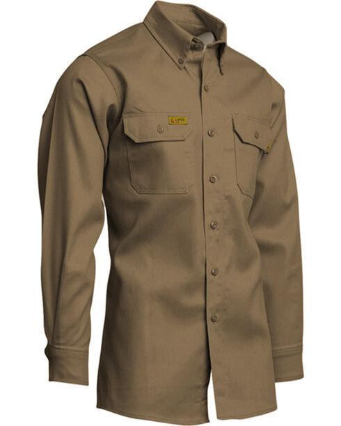 Lapco Men's Khaki FR Uniform Shirt - Tall , Beige/khaki, hi-res