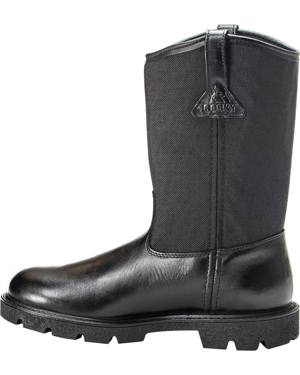 Rocky Men's Wellington Duty Boots, Black, hi-res