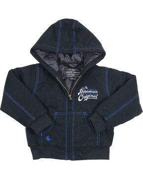 Cody James® Boy's American Original Hooded Jacket, Black, hi-res