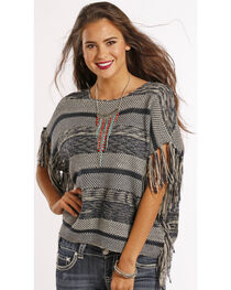 Panhandle Slim Women's Fringe Poncho Sweater, , hi-res