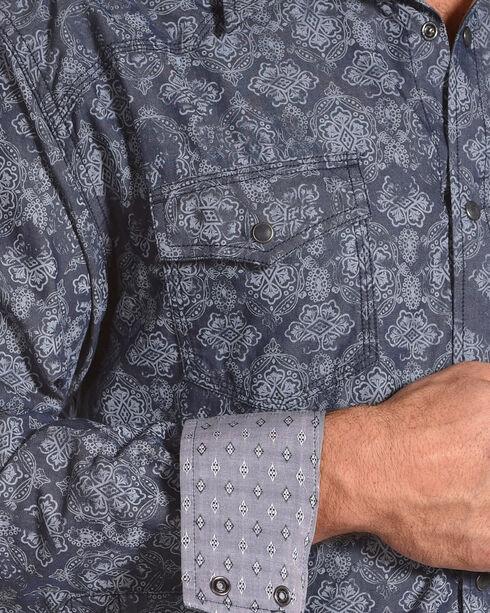 Moonshine Spirit Men's Gypsy Navy Printed Long Sleeve Shirt, Navy, hi-res