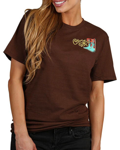 "Cherished Girl Women's ""Oh No"" Graphic Tee, Brown, hi-res"