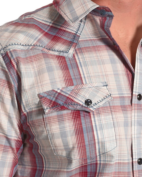 Cody James Men's Gold Nugget Plaid Western Shirt - Big & Tall, Red, hi-res