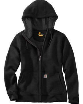 Carhartt Women's Clarksburg Full-Zip Hoodie , Black, hi-res
